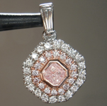 0.30ct Pink I2 Cushion Cut Diamond Pendant R9611