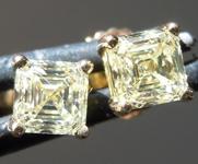 0.83ctw Yellow VS Asscher Cut Diamond Earrings R9597