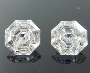 SOLD...1.51ctw E VS1 Octagonal Step Cut Lab Grown Diamond Earrings R9776