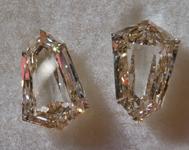 2.02ctw Brown VS1 Shield Diamonds R9746