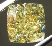 2.51ct Intense Yellow SI1 Cushion Cut Diamond R9583