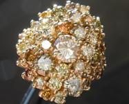 3.77ctw Fancy Colored Diamond Ring R2397