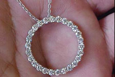 Necklace Special Order- 1.73ctw Circle of Life Diamond Pendant SO1561