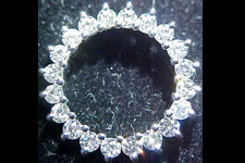 Necklace- Special Order- 1.03ctw White Diamond Circle Pendant with 14kt white gold chain SO1578