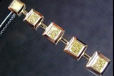 Necklace- Special Order 3/4ctw Fancy Yellow Diamond Journey Pendant SO1574