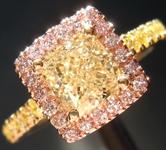 1.18ct W-X VS1 Cushion Cut Diamond Ring R9072