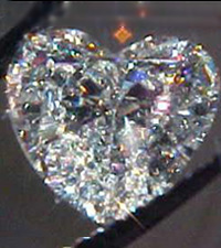 SOLD....GIA .90ct H/SI1 Heart Shape Diamond R1663