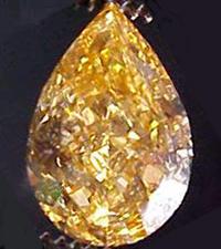 SOLD....GIA 1.06ct Fancy Natural Intense Yellow Orange Pear VVS2 Diamond R1701