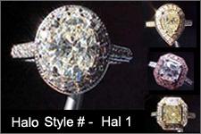 Semi Mount- #Hal1- Diamond Halo Semi-Mount  SO2987