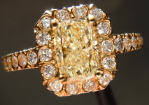 SOLD....Ring: 1.02ct SI2 Lozenge Cut U-V Yellow Diamond Micro Set Ring R1850