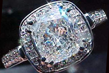 SOLD......Ring Diamond Special: GIA 1.20ct G/I1 Cushion Cut Diamond Halo Ring R1871