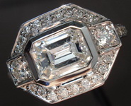 SOLD.....Halo Ring Special: 1.03carat D/I1 Emerald Cut Diamond in a Diamond Halo Ring R1860
