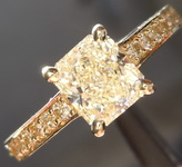 SOLD...1.06ct Q-R SI1 Radiant Cut Diamond Ring R4976