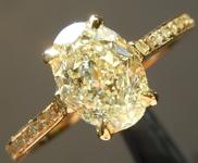 SOLD....Yellow Diamond Ring: 1.60ct W-X VS2 Oval Shape Diamond Ring GIA R6452