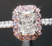 .72ct H SI1 Radiant Cut Pink Diamond Ring GIA R6896