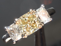 SPECIAL!!!1.01ct Yellow VS1 Cushion Diamond Ring R2861