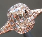 0.65ct J SI2 Cushion Cut Diamond Ring R3623