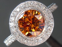SOLD.... 1.19ct Orange I1 Round Brilliant Diamond Ring R3910