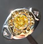 0.57ct Vivid Yellow Round Brilliant Diamond Ring R4432