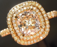 1.01ct N VVS2 Old Mine Brilliant Diamond Ring R4767