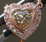 0.52ct Brown SI2 Heart Shape Diamond Necklace R4829