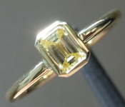 0.32ct Fancy Yellow VS2 Emerald Cut Diamond Ring R4898