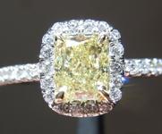 SOLD......Yellow Diamond Ring: .85ct Fancy Yellow VVS2 Cushion Modified Brilliant Diamond Halo Ring GIA R5281
