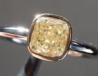 SOLD......Yellow Diamond Ring: 1.20ct Y-Z VS1 Cushion Modified Brilliant Diamond Ring GIA R5748