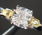 1.02ct D VS1 Cushion Cut Diamond Ring R5784