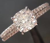 SOLD.....1.01ct H SI1 Cushion Cut Diamond Ring R5853
