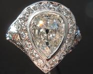 1.70ct I SI2 Old Cut Pear Diamond Ring GIA R5955