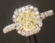 1.00ct Fancy Yellow SI2 Radiant Cut Diamond Ring R5964