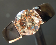 SOLD....Brown Diamond Ring: 3.00ct Fancy Yellow Brown I2 Round Brilliant Gents Diamond Ring GIA R6022