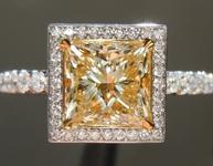 1.51ct Y-Z SI2 Princess Cut Diamond Ring R6056
