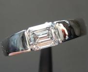 SOLD....0.92ct J SI1 Emerald Cut Diamond Ring R6171
