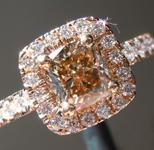 SOLD... 1.02ct Fancy Light Yellow Brown SI1 Cushion Cut Diamond Halo Ring R6198