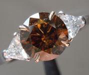 1.32ct Brown I1 Round Brilliant Diamond Ring R6200