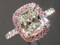 SOLD.....Diamond Ring: 1.54ct L VVS1 Cushion Modified Brilliant Diamond Halo Ring GIA R6316