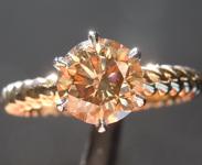 1.51ct Brown SI1 Round Brilliant Diamond Ring R6437