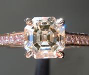 SOLD....Brown Diamond Ring: 1.36ct S-T, Light Brown SI1 Asscher Cut Diamond Ring GIA R6455