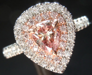 SOLD...0.55ct Pink Brown I1 Pear Shape Diamond Ring R6473