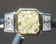 SOLD.....1.20ct O-P VS2 Radiant Cut Diamond Ring R6512