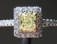 .49ct Fancy Yellow VS1 Cushion Cut Diamond Ring R6574