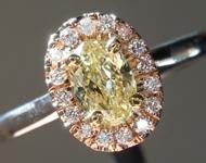 0.42ct Fancy Yellow VS2 Oval Diamond Ring R6586