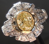 SOLD....0.96ct Fancy Light Yellow SI1 Oval Diamond Ring R6626