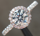 SOLD....Diamond Ring: .50ct Faint Blue VS2 Round Brilliant Diamond Halo Ring GIA R6669