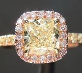 1.01ct W-X VVS2 Cushion Cut Diamond Ring R6698