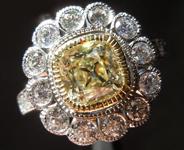1.12ct O-P SI1 Old Mine Brilliant Diamond Ring R6711