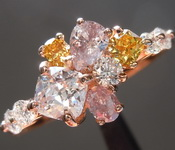 SOLD...1.27ctw Assorted Fancy Colored Diamond Ring R6810
