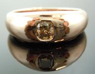 0.51ct Brown SI2 Cushion Cut Diamond Ring R6836